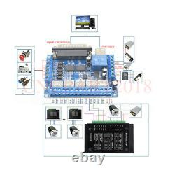 1.8NM CNC Integrated Stepper Motor Driver Nema23 3Axis /4Axis Kit &Power Supply