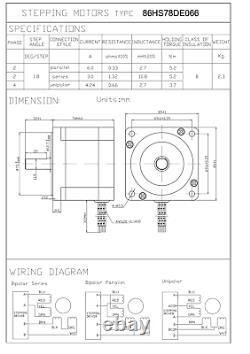 110VAC Nema34 3-AXIS Stepper Motor/Drive Kit 740 oz/in CNC Router Milling Plasma