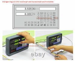12+ 40 TTL Linear Scales 2Axis Digital Readout Kit DRO Display Bridgeport Mill