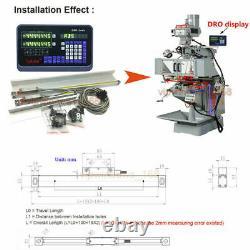 2 Axis Dro Digital Linear Scale 150mm+600mm Kit Mill Lathe CNC Machine 5µm