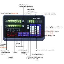 2 Axis Dro Digital Readout 5µm Linear Scale 6''&24'' Kit Mill Lathe CNC Machine