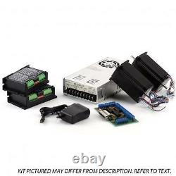 2-Axis NEMA23 CNC Kit (48V/7.3A 570 oz in, KL-5056 Stepper Driver) 3/8 inch shaf