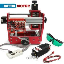 3 Axis 1310 CNC Router Kit Wood/Metal/Aluminum/Copper Milling +2500MW laser head