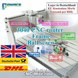 3 Axis 3040 CNC Engraving Machine Frame Kit+52mm Clamp+300W DC Spindle MotorUK