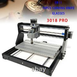 3 Axis CNC 3018Pro Router Kit Engraving Wood Milling Machine With 2500mW Laser DIY