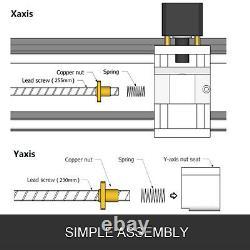 3 Axis CNC Router Kit 1610 500MW 2020 Aluminium Profiles Engraver Engraving