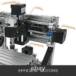 3 Axis CNC Router Kit 1610 500MW Injection Molding Material Engraving Tools