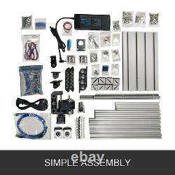 3 Axis CNC Router Kit 1610 Engraver T8 Screw 2020 Aluminium Profiles For Wood