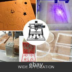 3 Axis CNC Router Kit 2418 2500MW DIY Engraving Injection Molding Material