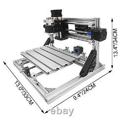 3 Axis CNC Router Kit 2418 Engraver Milling Engraving Tools Aluminium Wood USB