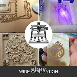 3 Axis CNC Router Kit 3018 2500MW Laser Engraving Machine Woodworking DIY Cutter
