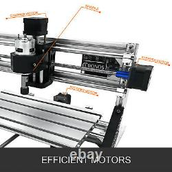 3 Axis CNC Router Kit 3018 5500MW Laser Engraver Woodworking DIY Milling Machine