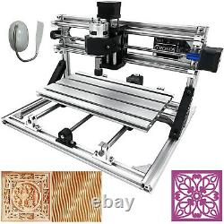 3 Axis CNC Router Kit 3018 Laser Engraver Wood PVC Injection Molding Material