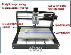 3 Axis CNC Router Kit 3018 Pro +2500mw Laser Engraver Machine+offline controller