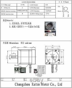 3 Axis Closed Loop Stepper Motor 12N. M 6A Nema34 Schrittmotor CNC Kit DriverDE