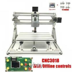3 Axis DIY CNC Mill Router Kit 30x18cm Desktop USB Wood Engraver Milling Machine
