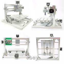 3 Axis DIY CNC Mill Router Kit 30x18cm Wood Engraver Milling Machine+500mW Laser