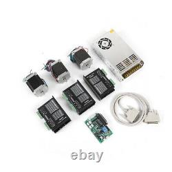 3 Axis Nema 23 Stepper Motor Kit CNC Router Kit 4 Phase 270 oz-in Driver DM542A