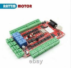 3 Axis Nema23 425oz-in Stepper Motor Driver 4A USBCNC Board CNC Router Kit UK