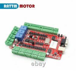 3 Axis USB CNC Kit Dual Shaft 425oz Stepper Motor Nema23 112mm 4A 40V DriverEU