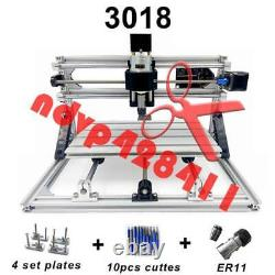 3 Axis USB DIY CNC 3018+ER11 Mill Wood Router Kit Engraver PCB Milling Machine