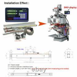 3Axis DRO Digital Readout+5µm Linear Scale 6 & 8 & 12 Kit CNC Milling Machine