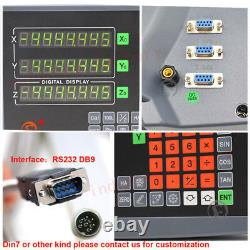 3Axis Digital Readout Linear Glass Scale DRO Display 100&500&1000MM Kit Mill CNC