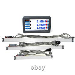 3Axis Digital Readout Touch Screen LCD Display + 3pc Linear Glass Scale CNC Kit