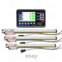 3Axis LCD DRO Digital Readout Display+Linear glass Scale Kit for CNC Mill Drill