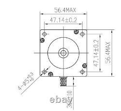 3Axis Nema23 stepper 23HS8430 3A 76mm 270oz-in Schrittmotor+Driver+Power CNC Kit