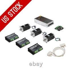 3axis Nema23 stepper motor 425oz-in&Driver DM542A CNC controller kits MILL LONGS