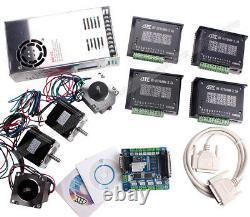 4 Axis 1.2N Stepper Motor 3.5A Driver TB6560 Nema23 USB Interface Board CNC Kit