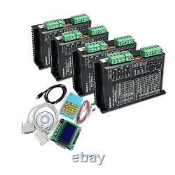 4 Axis CNC Kit Mach3 Professional Control Board & EMA2-050D42 Stepper Drivers