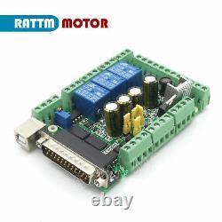 4 Axis CNC Kit Moteur pas à pas NEMA34 1600oz. In &Driver &mach3 board&power FR
