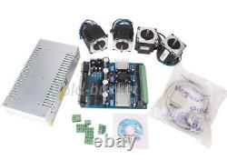4 Axis CNC Stepper Motor TB6560 Board Controller Driver NEMA23 Kit Mach3 360W