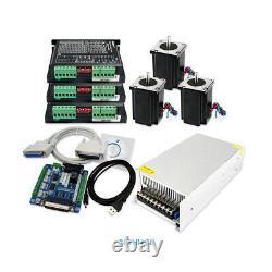 4 Axis DIY CNC Kit Mach3 Professional Control Board Nema24 2.94N. M Stepper Motor