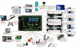 4 Axis Nema34 12N. M Stepper Motor Driver CNC Controller Kit 1600oz-in 154mm 6A