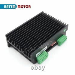 4 Axis Nema34 Stepper Motor 116mm/1230oz-in& CW8060 Driver 6.0A 24-80VDC CNC Kit