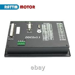 4 Axis Offline CNC Controller Kit Nema23 2N. M Closed Loop Servo Motor Driver+MPG