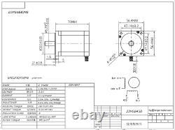 4Axis Nema23 Stepper Motor 270oz-in 3A 23HS8430&Driver DM545A CNC Router Kit