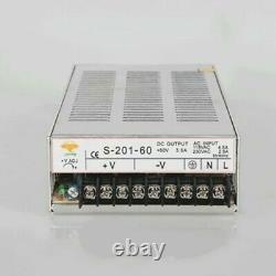 4Axis Nema23 Stepper Motor 290oz-in Driver board 200W-24V Power Supply CNC Kit