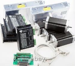 4Axis Nema23 stepper motor 425oz-in 3A Driver CNC control kit