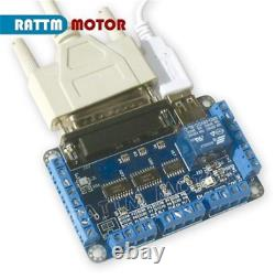 4Axis Stepper Motor NEMA23 425 oz. In 3A+Driver 256microstep Schrittmotor CNC Kit