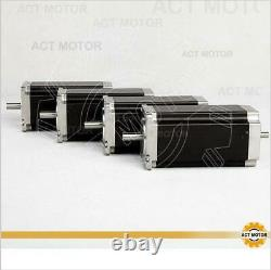 ACT 4Axis Nema23 23HS2442B 4.2A 112mm 425oz-in double shaft Schrittmotor CNC kit