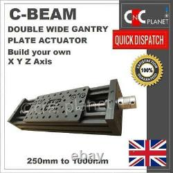 C-beam Long Double Wide Gantry Plate Actuator X Y Z Axis Kit Cnc Router Plasma