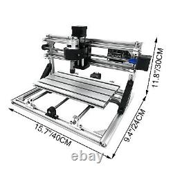 CNC 3018 Router Kit With Laser Engraver 500mw 3 Axis USB Port Engraving Tools