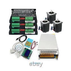CNC Kit 3 Axis Professional Breakout Board Stepper Drivers Nema23 Stepper Motor