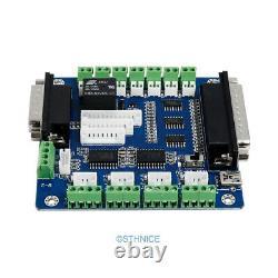 CNC Kit 4 Axis Breakout Board & Nema23 Stepper Motor For DIY Router/Mill/Plasma