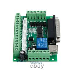 CNC Kit 5 Axis Breakout Board & EMA2-040D15 Drivers For DIY Router/Mill/Plasma