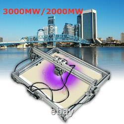 CNC Laser Engraving Machine Kit 65x50 cm 2 Axis Milling Machine 2000 / 3000mw